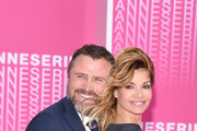 """Alexandre Brasseur and Ingrid Chauvin from the serie """"Demain nous appartient"""" attends """"Killing Eve"""" and """"When Heroes Fly"""" screening during the 1st Cannes International Series Festival at Palais des Festivals on April 8, 2018 in Cannes, France."""