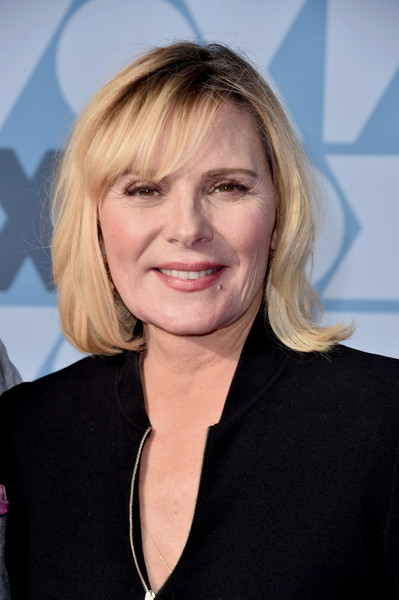 FOX Summer TCA 2019 All-Star Party - Arrivals [hair,face,hairstyle,blond,chin,layered hair,smile,official,feathered hair,premiere,all-star party - arrivals,kim cattrall,los angeles,california,fox summer tca,fox studios,all-star party]