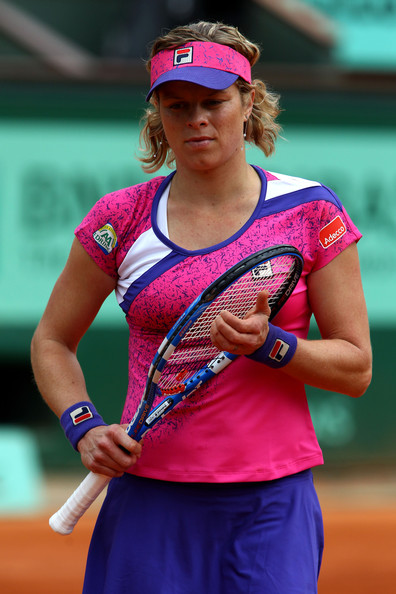 Kim Clijsters Kim Clijsters of Belgium gathers her thoughts during the women's singles round two match between Arantxa Rus of Netherlands and Kim Clijsters of Belgium on day five of the French Open at Roland Garros on May 26, 2011 in Paris, France.