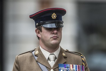 Kim Hughes Prince Harry Marks The 75th Anniversary Of Explosive Ordnance Disposal (EOD) Across The British Armed Forces