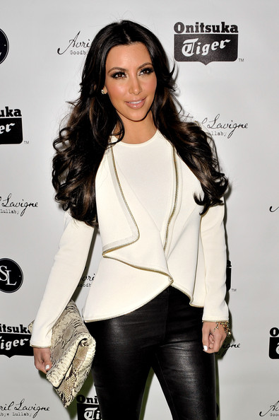 "Kim Kardashian Kim Kardashian attends the release party for Avril Lavigne's new album ""Goodbye Lullaby"" at SL Lounge on March 8, 2011 in New York City."