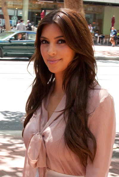Kim Kardashian (pictured), along with sisters Kourtney Kardashian and Khloe Kardashian meet at Sears headquarters to discuss their fashion line on July 21, 2011 in San Francisco, California.