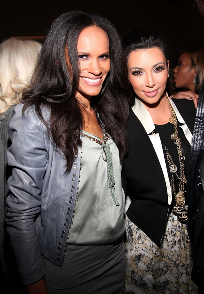 Kim Kardashian (L-R) Amanda Garrigus and Kim Kardashian attend the Charlotte Ronson MBFW Fall 2011 with Starbucks Frappuccino at The Stage at Lincoln Center on February 12, 2011 in New York City.