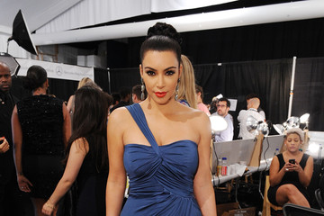 Kim Kardashian Vera Wang - Backstage - Spring 2012 Mercedes-Benz Fashion Week