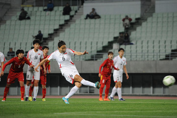 Kim Un Hyang Vietnam v North Korea - AFC Women's Olympic Final Qualification Round