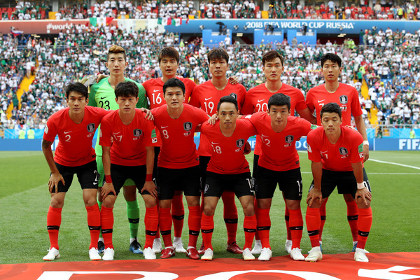 Korea Republic vs. Mexico: Group F - 2018 FIFA World Cup Russia [team,sports,team sport,sport venue,player,soccer player,social group,stadium,ball game,football player,mexico: group f - 2018 fifa world cup,match,group,team,korea republic,russia,rostov-on-don,mexico,rostov arena]