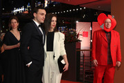 """(L-R) Franz Rogowski, Paula Beer and Rosa von Praunheim attend the """"The Kindness Of Strangers"""" premiere during the 69th Berlinale International Film Festival Berlin at Berlinale Palace on February 07, 2019 in Berlin, Germany."""