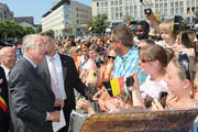 King Albert II of Belgium visits Liege on July 19, 2013 in Liege, Belgium.