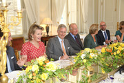 Princess Mathilde, Prince Philippe, King Albert and Queen Paola of Belgium receive members of COMORI at Laeken Castle on July 8, 2013 in Brussels, Belgium.