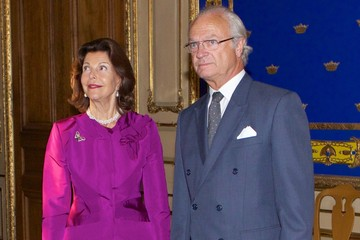 King Carl Gustaf XVI  Princess Christina Opens Royal Palace Exhibit