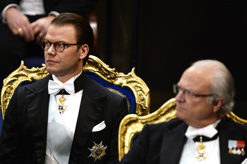 King Carl Gustaf XVI  Nobel Prize Awards Ceremony in Stockholm
