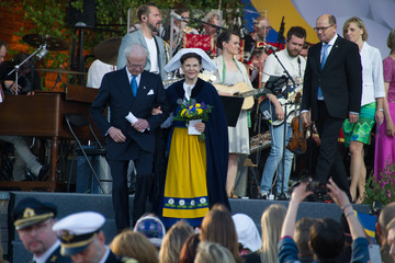 King Carl Gustaf XVI  National Day Celebrations In Sweden 2015