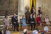 (L-R) Queen Sofia, King Juan Carlos, Princess Leonor of Spain, King Felipe VI of Spain, Queen Letizia of Spain and Princess Sofia  attend the Order of Golden Fleece (Toison de Oro), ceremony at the Royal Palace on January 30, 2018 in Madrid, Spain. Today is King's Felipe 50th birthday.