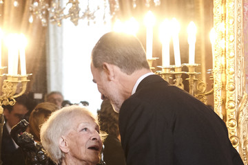 King Felipe VI of Spain Spanish Royals Host A Lunch For Literature World Members