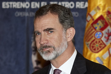 King Felipe VI of Spain Spanish Royals Meet Royal Theatre Foundation in Madrid