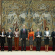 King Felipe VI of Spain Spanish Royals Deliver Accreditations On The 8th Promotion Of Honorary Ambassadors For 'Spain' Brand
