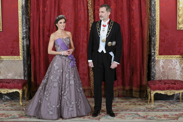 King Felipe VI of Spain Spanish Royals Host A Gala Dinner For President Of Peru And His Wife