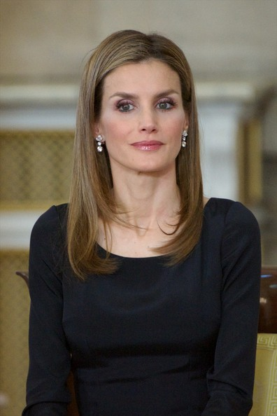 Princess Letizia of Spain attends the official abdication ceremony at the Royal Palace on June 18, 2014 in Madrid, Spain.