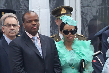 King Mswati III Queen Elizabeth II Attends The Armed Forces Parade And Muster