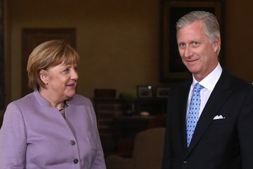 King Philippe King Philippe of Belgium Meets German Chancellor Angela Merkel in Brussels
