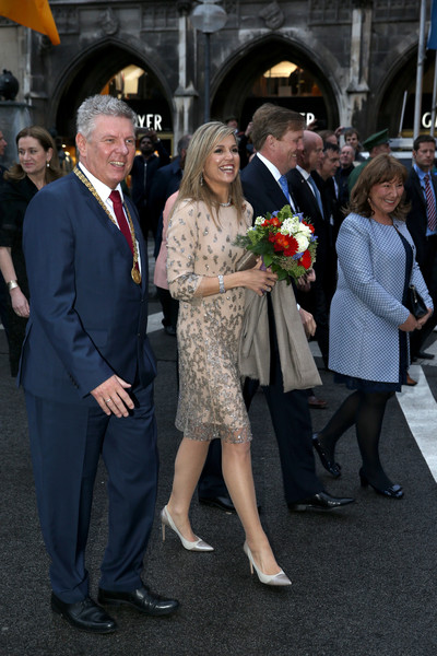 King Willem-Alexander And Queen Maxima Of The Netherlands Visit Bavaria - Day 1