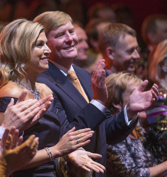 King Willem-Alexander of The Netherlands and Queen Maxima of The Netherlands applaud at the Circus Theatre during celebrations marking the 200th anniversary of the Kingdom of The Netherlands on November 30, 2013 in The Hague, Netherlands.