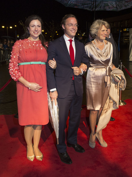 Princess Viktoria de Bourbon de Parme, Prince Jaime de Bourbon de Parme and Princess Irene of The Netherlands arrive at the Circus Theatre for celebrations marking the 200th anniversary of the Kingdom of The Netherlands on November 30, 2013 in The Hague, Netherlands.