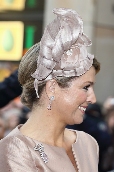 Queen Maxima of The Netherlands smiles upon her arrival at 'Haus der Niederlande' on May 27, 2014 in Muenster, Germany. The Royal couple is on a two-day visit to Germany.