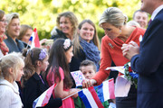 Queen Maxima of The Netherlands is greeted by wellwishers as she arrives at the Royal Palace during an official visit to Oslo on October 2, 2013 in Oslo, Norway.