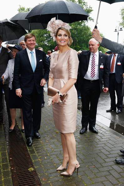 King Willem-Alexander and Queen Maxima of The Netherlands arrive at MMID on May 27, 2014 in Essen, Germany. The Royal couple is on a two-day visit to Germany.