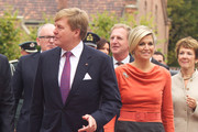 King Willem-Alexander of The Netherlands and Queen Maxima of The Netherlands arrive for a meeting at the Prime Minister's office during an official visit to Oslo on October 2, 2013 in Oslo, Norway.