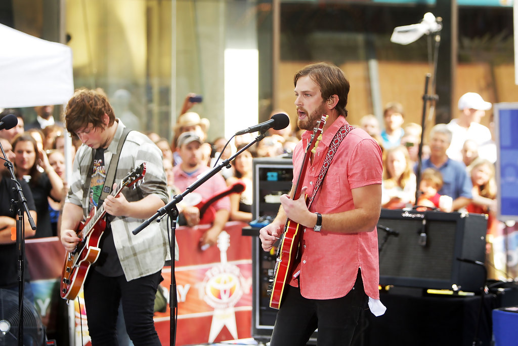 caleb followill in kings of leon perform on nbcs quottoday