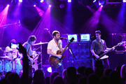 (L-R) Nathan Followill, Matthew Followill,  Caleb Followill, and Jared Followill of Kings Of Leon perform onstage in a private concert for SiriusXM at (Le) Poisson Rouge; performance Airs live on SiriusXM's Alt Nation Channel on October 12, 2016 in New York City.