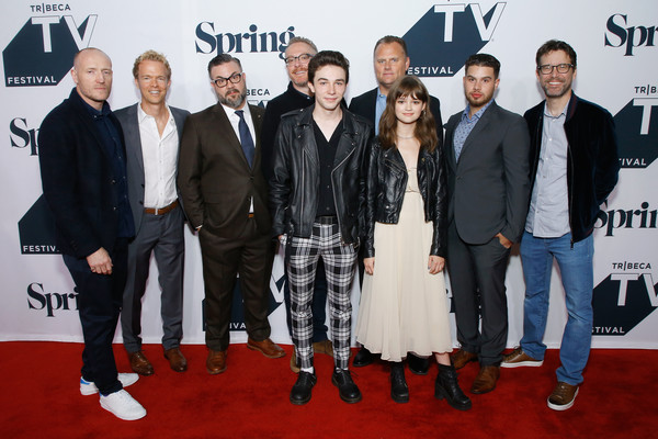 'Wayne' World Premiere - 2018 Tribeca TV Festival [carpet,event,red carpet,premiere,suit,flooring,l-r,wayne world premiere,tribeca tv festival,iain b. macdonald,kirk ward,ciara bravo,mark mckenna,greg coolidge,paul wernick,shawn simmons]