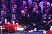 Doc Rivers and Chauncey Billups attend The Celebration of Life for Kobe & Gianna Bryant at Staples Center on February 24, 2020 in Los Angeles, California.