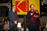 Director Luca Guadagnino (R) speaks onstage during the Kodak Motion Picture Awards Season Celebration on March 1, 2018 in Los Angeles, California.
