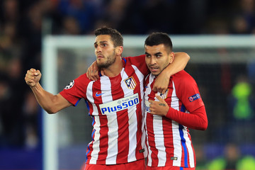 Koke Leicester City v Club Atletico de Madrid - UEFA Champions League Quarter Final: Second Leg