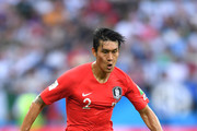Yong Lee of Korea Republic runs with the ball during the 2018 FIFA World Cup Russia group F match between Korea Republic and Mexico at Rostov Arena on June 23, 2018 in Rostov-on-Don, Russia.