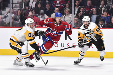 Kris Letang Sidney Crosby Pittsburgh Penguins v Montreal Canadiens