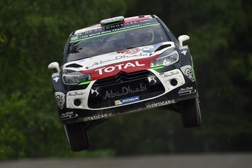 Kris Meeke FIA World Rally Championship Finland - Day One