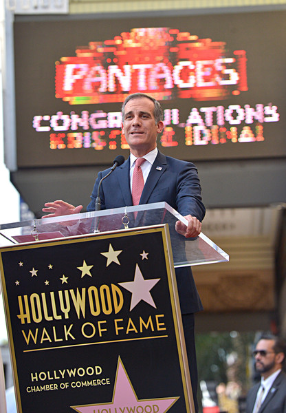 Double Walk of Fame Ceremony For Kristen Bell And Idina Menzel