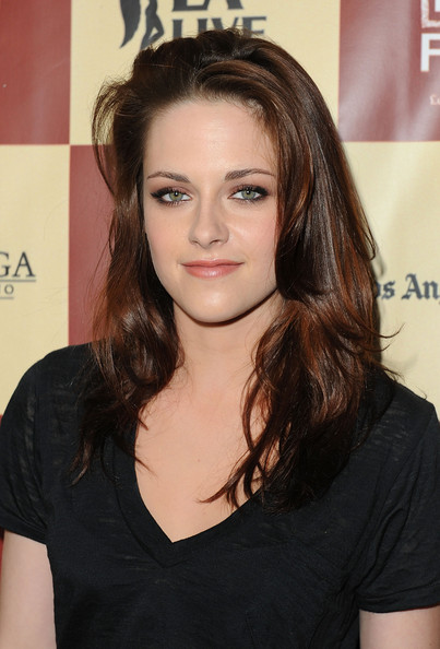 "Kristen Stewart Actress Kristen Stewart arrives at ""A Better Life"" World Premiere Gala Screening during the 2011 Los Angeles Film Festival at Regal Cinemas L.A. LIVE on June 21, 2011 in Los Angeles, California."