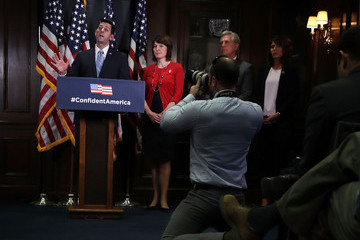 Kristi Noem House Republican Leadership Address The Press After Weekly Party Conference