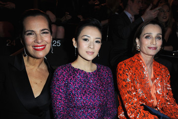 Kristin Scott Thomas Front Row at the Giorgio Armani Show