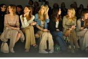 (L-R)  Elena Barolo, Alessandra Grillo, Elena Santarelli,  Valentina Scambia and Federica Fontana attend the Kristina T Show during Milan Fashion Week Womenswear Autumn/Winter 2014 on February 20, 2014 in Milan, Italy.