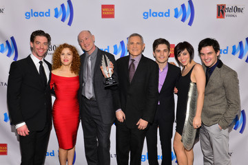 Krysta Rodriguez Andy Mientus Backstage at the Annual GLAAD Media Awards