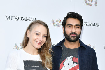 Kumail Nanjiani Emily V. Gordon Premiere Of A24's 'Midsommar' - Red Carpet