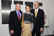 "(L-R) Director/writer David Zellner, actor Rinko Kikuchi, and writer Nathan Zellner attend the screening of ""Kumiko: The Treasure Hunter"" hosted by Amplify Releasing with The Cinema Society at Museum of Modern Art on March 12, 2015 in New York City."