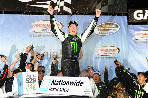 Kurt Busch celebrates Nationwide Series win at Richmond
