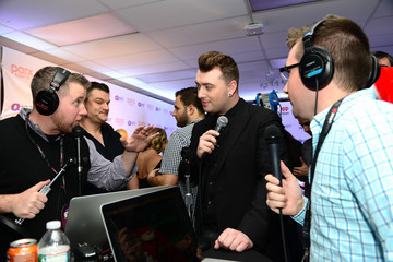Kyle Anthony Backstage at Q102's Jingle Ball